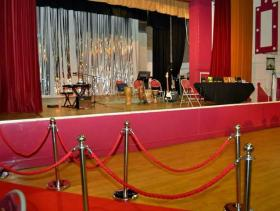 The stage set for a performance