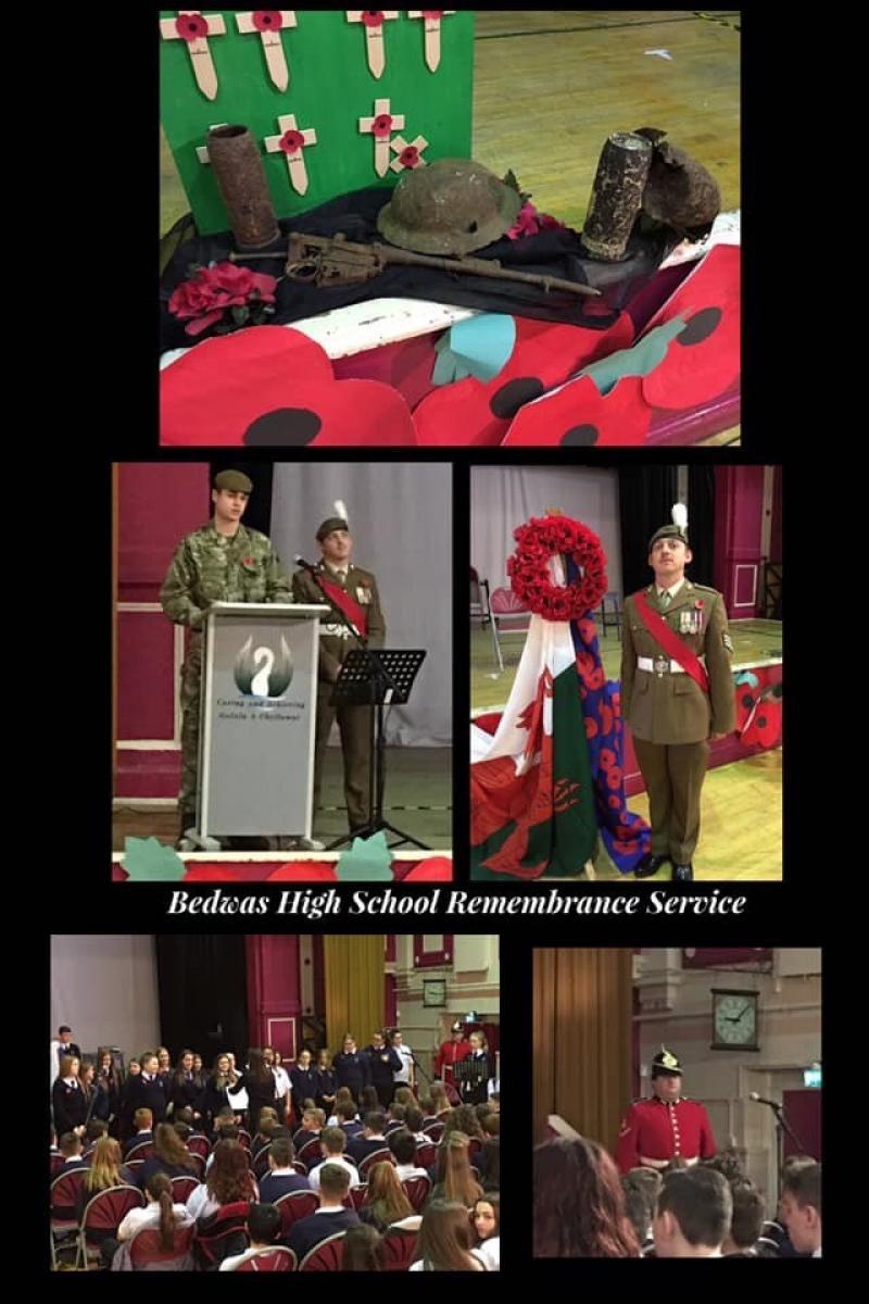 Bedwas High School Rememberance Service 2018