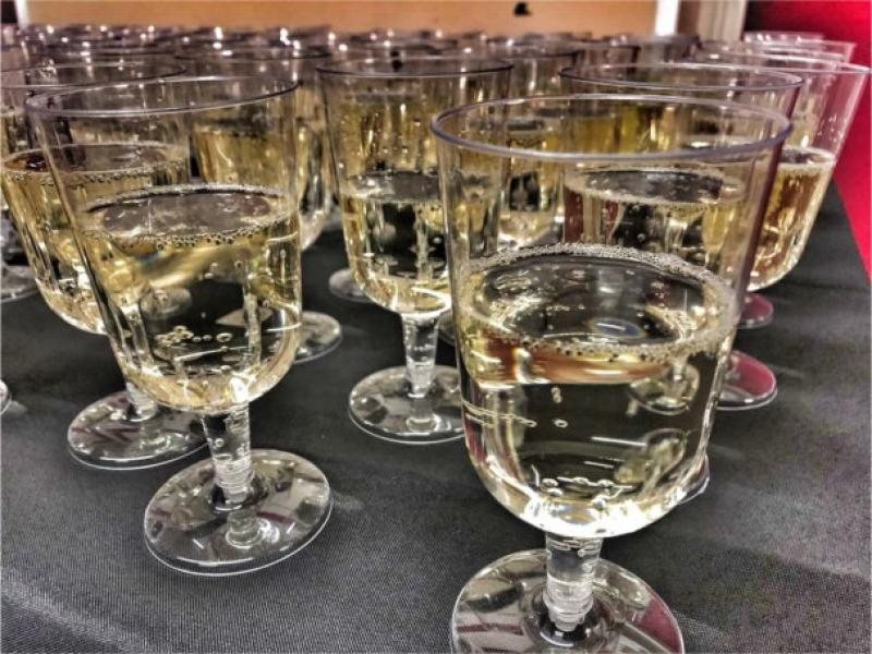 Glasses of bubbly - New Year's Eve party 2017