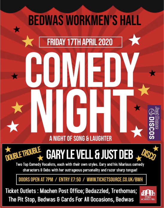 Comedy Night at Bedwas Workmen's Hall