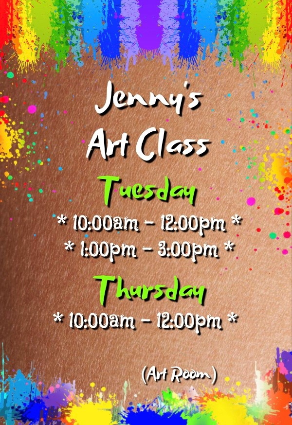Jenny's Art Class at Bedwas Workmen's Hall
