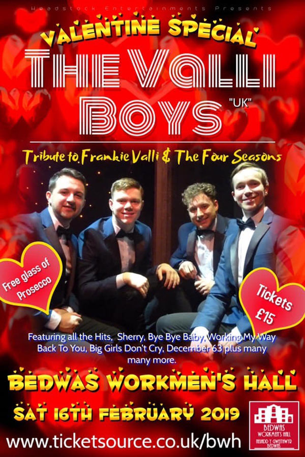The Valli Boys at Bedwas Workmen's Hall