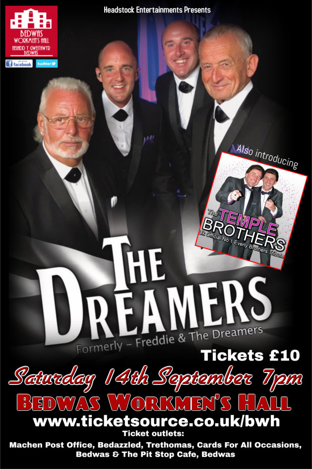 The Dreamers at Bedwas Workmen's Hall