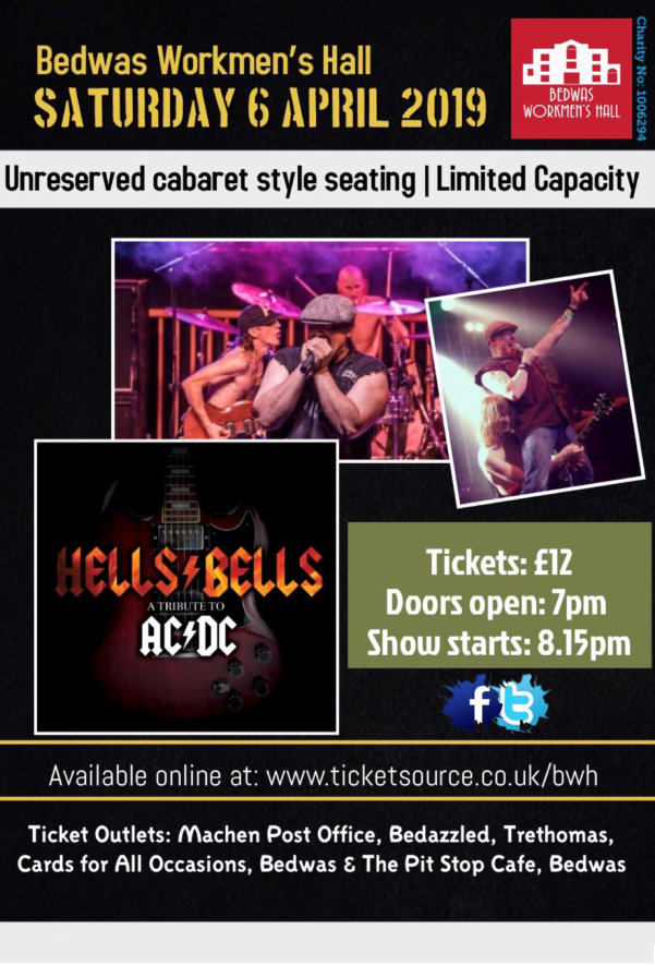 Hell's Bells AC/DC tribute at Bedwas Workmen's Hall